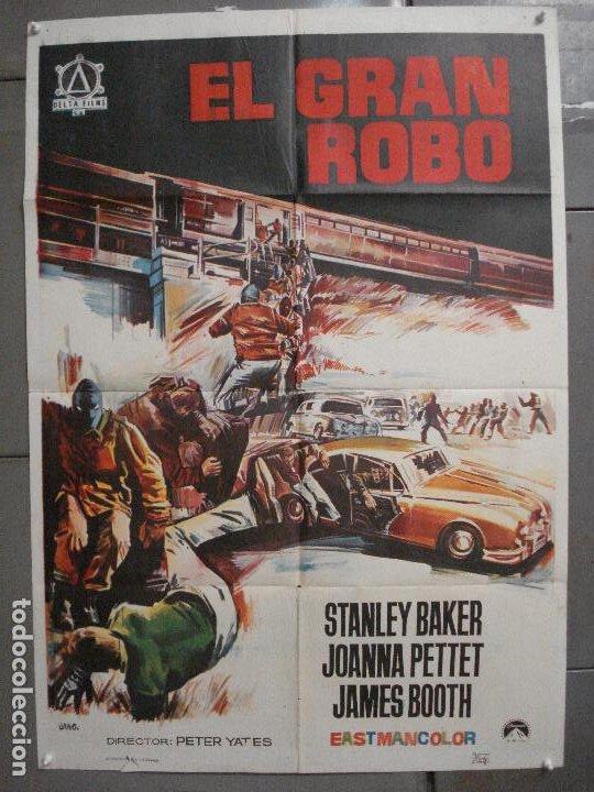 CDO 6834 EL GRAN ROBO STANLEY BAKER PETER YATES POSTER ORIGINAL 70X100 ESTRENO (Cine - Posters y Carteles - Acción)