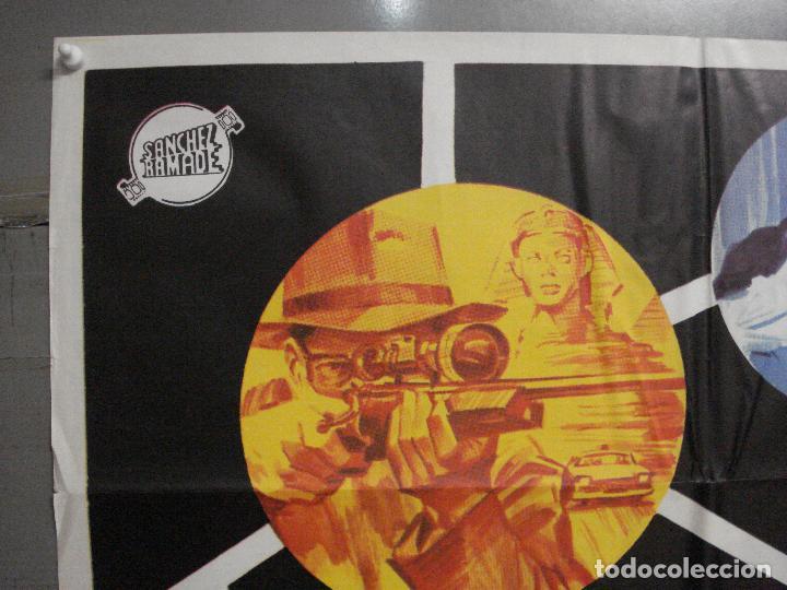 Cine: CDO 6836 SUPER 7 LLAMA A EL CAIRO ROGER BROWNE LENZI EURO SPY POSTER ORIGINAL 70X100 ESTRENO - Foto 2 - 223968671