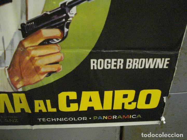 Cine: CDO 6836 SUPER 7 LLAMA A EL CAIRO ROGER BROWNE LENZI EURO SPY POSTER ORIGINAL 70X100 ESTRENO - Foto 9 - 223968671