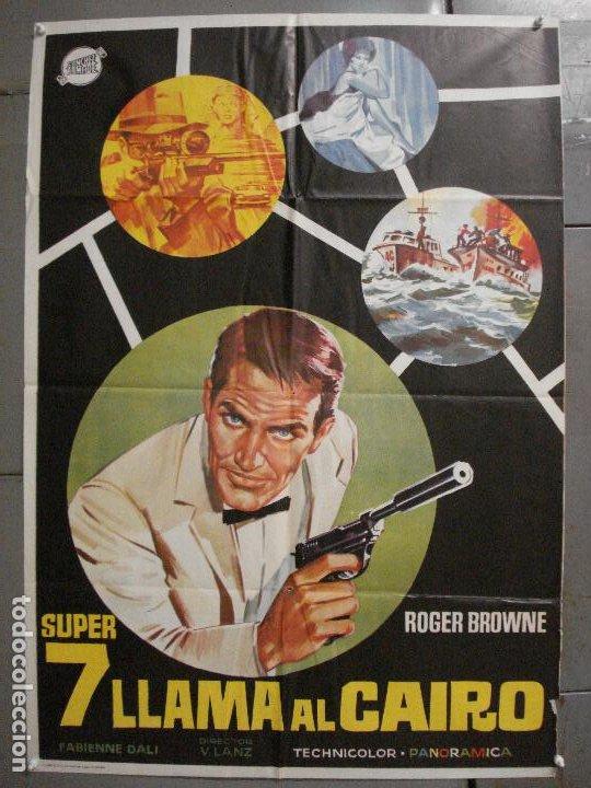 CDO 6836 SUPER 7 LLAMA A EL CAIRO ROGER BROWNE LENZI EURO SPY POSTER ORIGINAL 70X100 ESTRENO (Cine - Posters y Carteles - Acción)