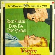 Cine: BB67D PIJAMA PARA DOS DORIS DAY ROCK HUDSON POSTER ORIGINAL 75X110 ARGENTINO LITOGRAFIA. Lote 223982473