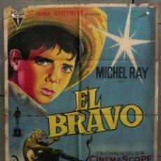 Cine: YO30D EL BRAVO DALTON TRUMBO MICHAEL RAY SOLIGO POSTER ORIGINAL ESTRENO 70X100 LITOGRAFIA. Lote 223995780