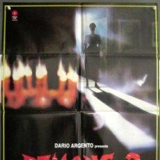 Cine: YK76D DEMONS 2 LAMBERTO BAVA DARIO ARGENTO POSTER ORIGINAL 70X100 ESTRENO. Lote 223999573