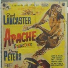 Cine: OO00D APACHE BURT LANCASTER JEAN PETERS JOSE MARIA POSTER ORIGINAL 70X100 ESTRENO LITOGRAFIA. Lote 224007851