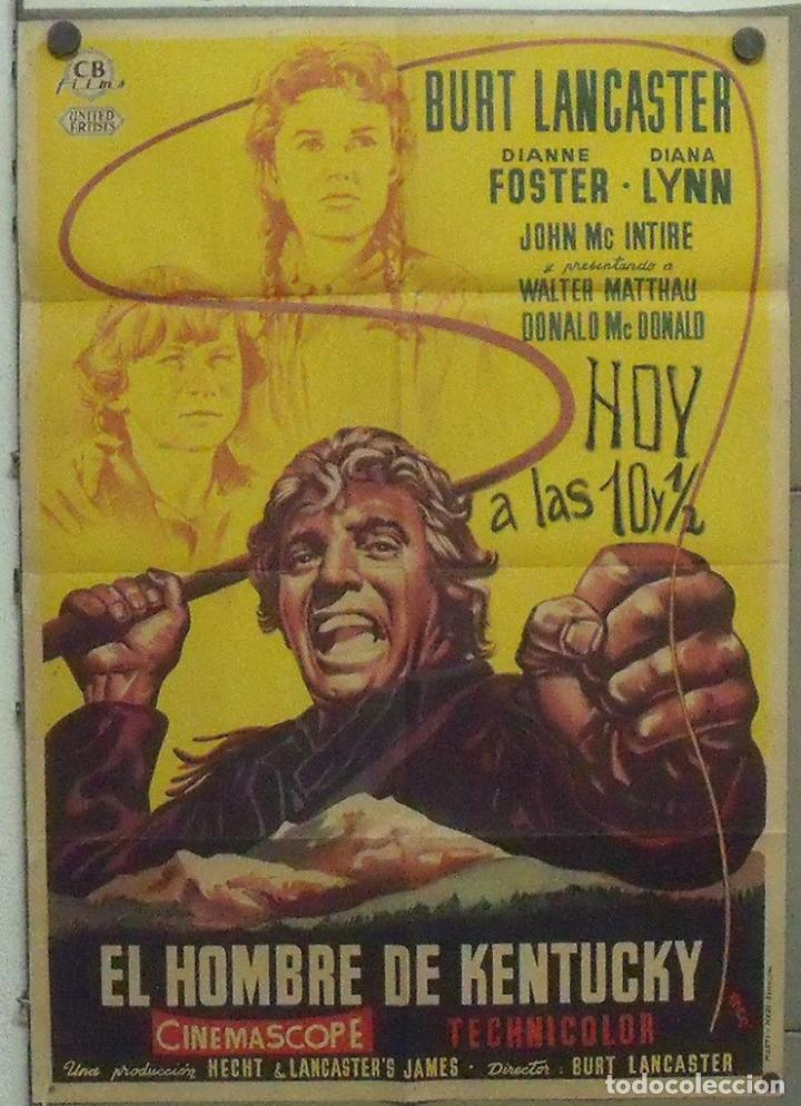 OO48D EL HOMBRE DE KENTUCKY BURT LANCASTER POSTER ORIGINAL 70X100 ESTRENO LITOGRAFIA (Cine - Posters y Carteles - Westerns)