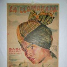 Cine: LA LLAMARADA - 110 X 75CM - 1961 - LITOGRAFICO. Lote 224020896