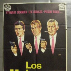 Cine: CDO 6855 LOS MATONES LEX BARKER PIERRE BRICE STEWART GRANGER JANO POSTER ORIGINAL ESTRENO 70X100. Lote 224070211