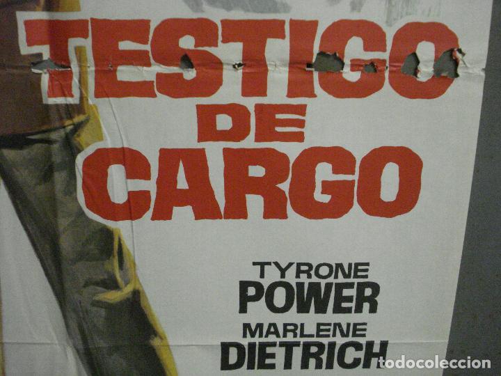 Cine: CDO 6860 TESTIGO DE CARGO MARLENE DIETRICH AGATHA CHRISTIE JANO POSTER ORIG 70X100 ESPAÑOL R-69 - Foto 8 - 224072452