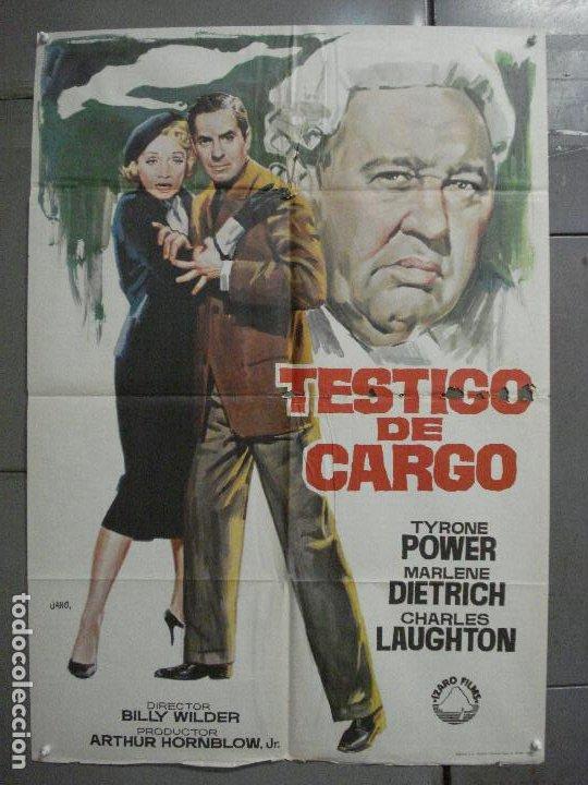 CDO 6860 TESTIGO DE CARGO MARLENE DIETRICH AGATHA CHRISTIE JANO POSTER ORIG 70X100 ESPAÑOL R-69 (Cine - Posters y Carteles - Suspense)