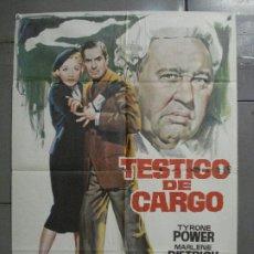 Cine: CDO 6860 TESTIGO DE CARGO MARLENE DIETRICH AGATHA CHRISTIE JANO POSTER ORIG 70X100 ESPAÑOL R-69. Lote 224072452