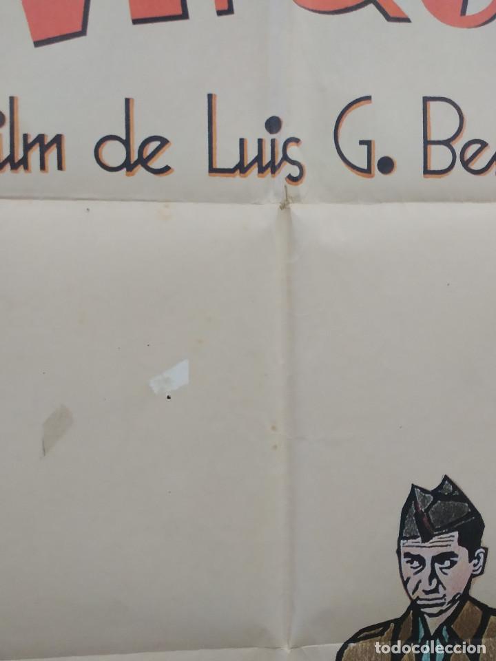 Cine: La vaquilla. BERLANGA, Alfredo Landa, Santiago Ramos, José Sacristán AÑO 1985. POSTER ORIGINAL - Foto 10 - 224081800
