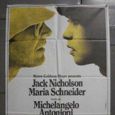 Cine: AAP62 EL REPORTERO MICHELANGELO ANTONIONI JACK NICHOLSON MAC POSTER ORIGINAL 70X100 ESTRENO. Lote 224083817