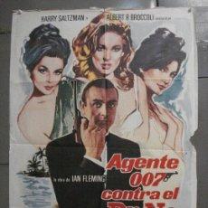 Cine: AAP68 AGENTE 007 CONTRA EL DR NO JAMES BOND SEAN CONNERY POSTER ORIGINAL 70X100 ESPAÑOL R-74. Lote 224090610
