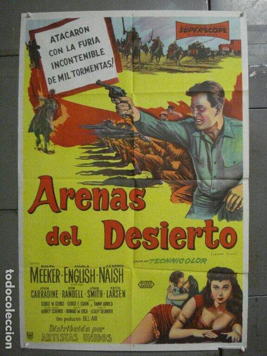 AAP78 DESERT SANDS RALPH MEEKER MARLA ENGLISH LEGION POSTER ORIGINAL ARGENTINO 75X110 LITOGRAFIA (Cine - Posters y Carteles - Aventura)