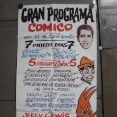 Cine: AAP90 POSTER CARTEL PINTADO A MANO JERRY LEWIS CANTINFLAS PAJARO LOCO TOM Y JERRY. Lote 224175870