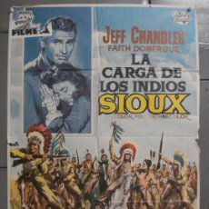 Cine: CDO 6879 LA CARGA DE LOS INDIOS SIOUX JEFF CHANDLER FAITH DOMERGUE ALVARO POSTER ORIG 70X100 ESTRENO. Lote 224190178