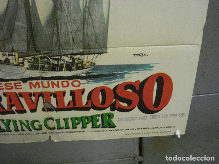 Cine: CDO 6891 ESE MUNDO MARAVILLOSO FLYING CLIPPER DOCUMENTAL MAC POSTER ORIGINAL 70X100 ESTRENO - Foto 9 - 224197025