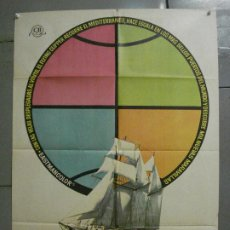 Cine: CDO 6891 ESE MUNDO MARAVILLOSO FLYING CLIPPER DOCUMENTAL MAC POSTER ORIGINAL 70X100 ESTRENO. Lote 224197025