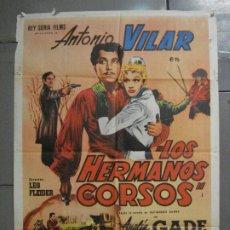 Cine: CDO 6895 LOS HERMANOS CORSOS ANTONIO VILAR ANALIA GADE POSTER ORIGINAL 70X100 ESTRENO. Lote 224198361