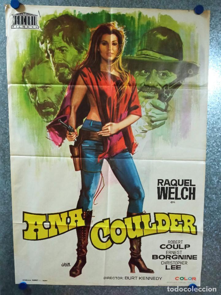 ANA COULDER CAULDER. RAQUEL WELCH, ROBERT CULP, ERNEST BORGNINE. AÑO 1972. POSTER ORIGINAL (Cine- Posters y Carteles - Drama)