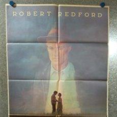 Cine: EL MEJOR. ROBERT REDFORD, KIM BASINGER, GLENN CLOSE. BEISBOL. AÑO 1984. POSTER ORIGINAL. Lote 224221287