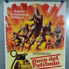 Cinema: DOCE DEL PATÍBULO. LEE MARVIN, CHARLES BRONSON, JOHN CASSAVETES AÑO 1977. POSTER ORIGINAL. Lote 224247241