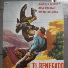 Cine: CDO 6923 EL RENEGADO BLANCO ABEL SALAZAR MAURICIO GARCES POSTER ORIGINAL 70X100 ESTRENO. Lote 224315715