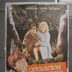 Cine: CDO 6930 OPERACION SECRETARIA GRACITA MORALES JOSE LUIS LOPEZ VAZQUEZ POSTER ORIGINAL 70X100 ESTRENO. Lote 224330653