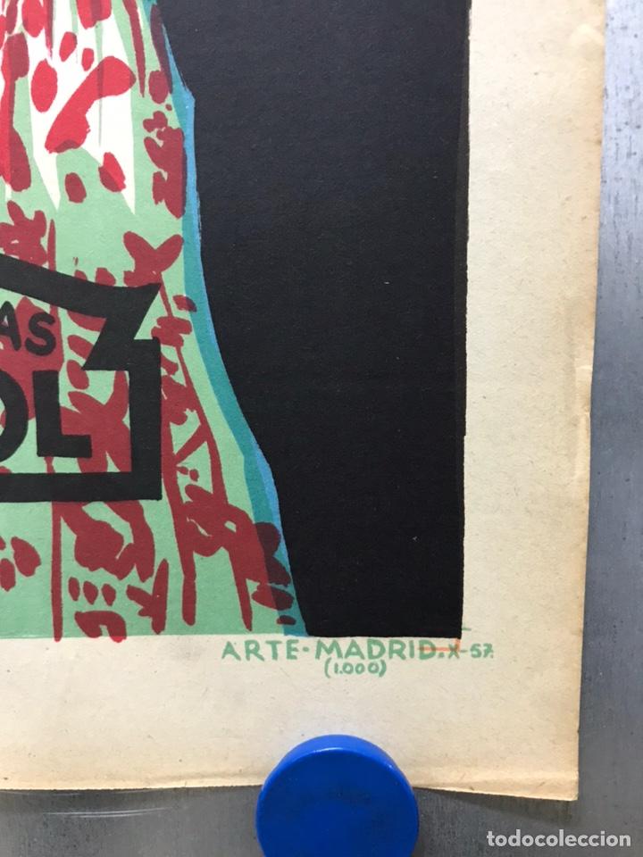Cine: EMBRUJO - LOLA FLORES, MANOLO CARACOL, FERNANDO FERNAN GOMEZ - ilustr: LLOAN, AÑO 1957 - LITOGRAFIA - Foto 2 - 224333997