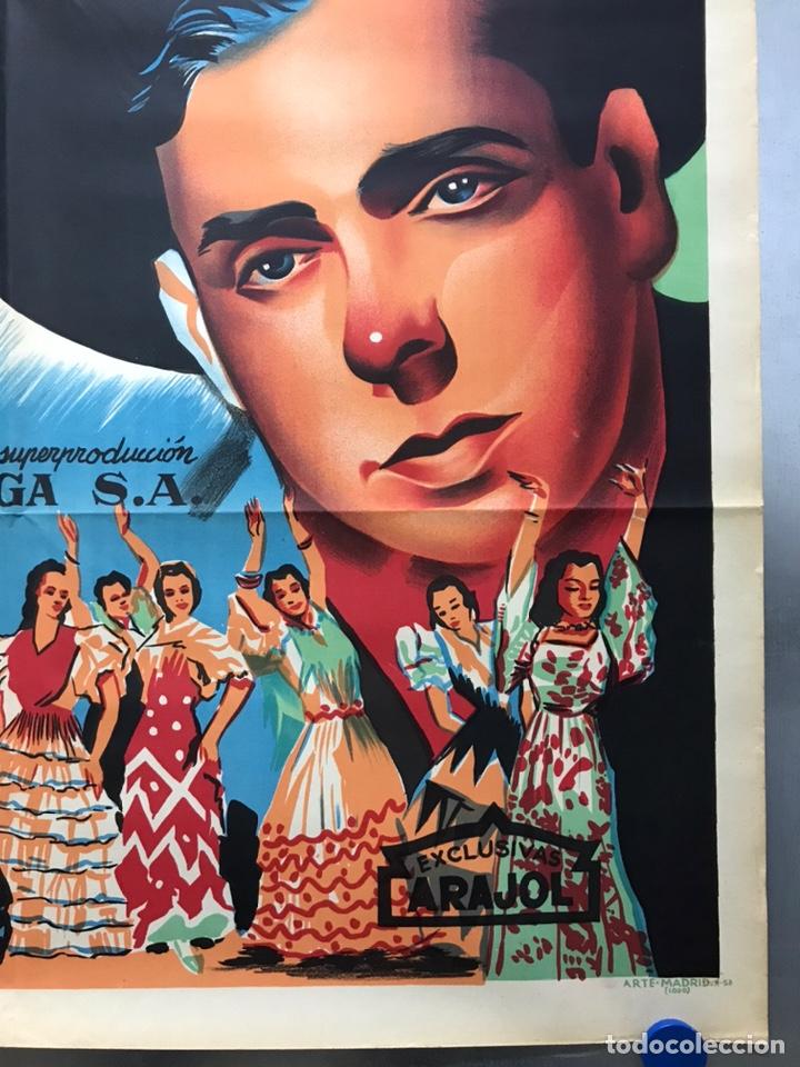 Cine: EMBRUJO - LOLA FLORES, MANOLO CARACOL, FERNANDO FERNAN GOMEZ - ilustr: LLOAN, AÑO 1957 - LITOGRAFIA - Foto 3 - 224333997
