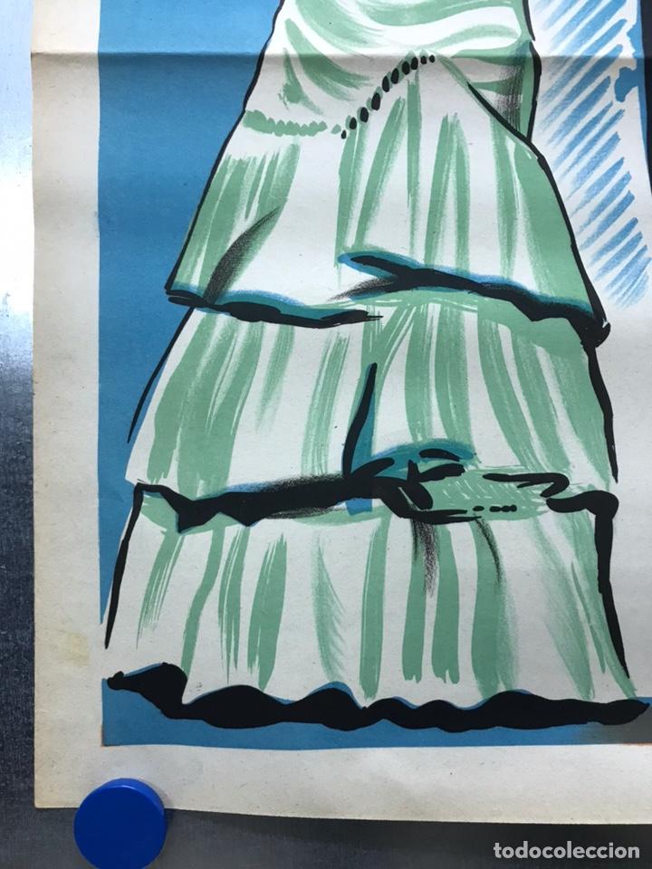 Cine: EMBRUJO - LOLA FLORES, MANOLO CARACOL, FERNANDO FERNAN GOMEZ - ilustr: LLOAN, AÑO 1957 - LITOGRAFIA - Foto 4 - 224333997
