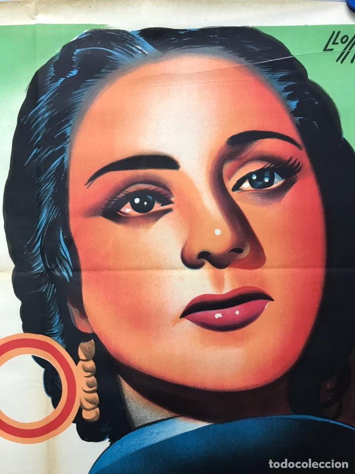Cine: EMBRUJO - LOLA FLORES, MANOLO CARACOL, FERNANDO FERNAN GOMEZ - ilustr: LLOAN, AÑO 1957 - LITOGRAFIA - Foto 7 - 224333997