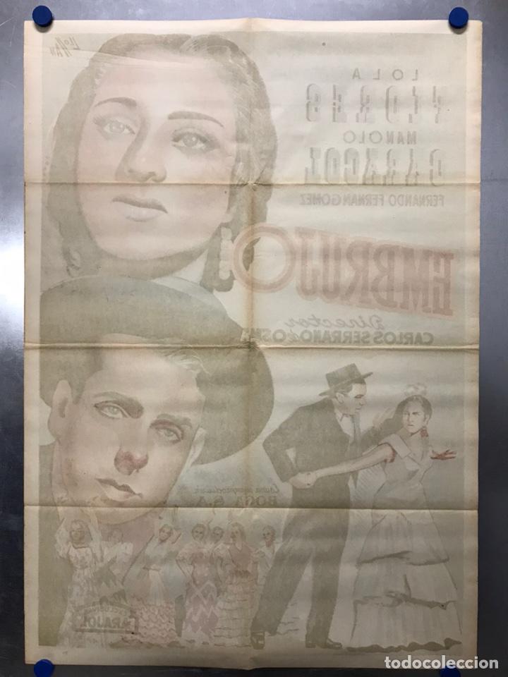 Cine: EMBRUJO - LOLA FLORES, MANOLO CARACOL, FERNANDO FERNAN GOMEZ - ilustr: LLOAN, AÑO 1957 - LITOGRAFIA - Foto 9 - 224333997