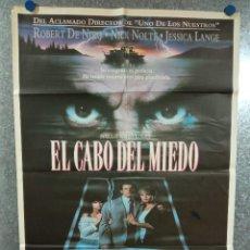 Cine: EL CABO DEL MIEDO. ROBERT DE NIRO, JESSICA LANGE, NICK NOLTE, JULIETTE LEWIS POSTER ORIGINAL. Lote 224346025