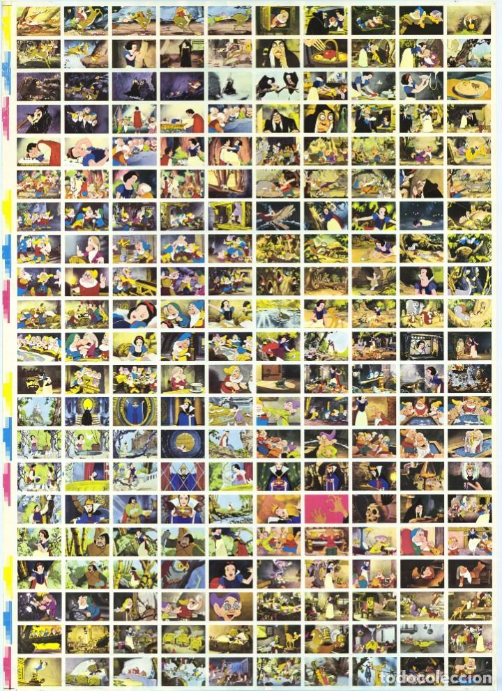 BLANCANIEVES Y LOS 7 ENANITOS - WALT DISNEY - PLANCHA CARTEL 210 CROMOS / FHER - ÚNICO EN TC (Cine - Posters y Carteles - Infantil)