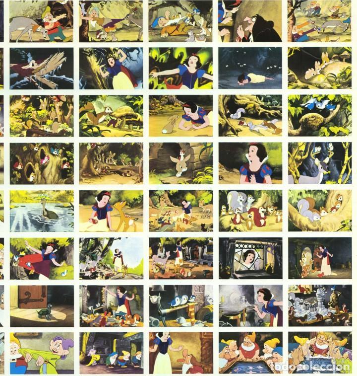 Cine: BLANCANIEVES Y LOS 7 ENANITOS - WALT DISNEY - PLANCHA CARTEL 210 CROMOS / FHER - ÚNICO EN TC - Foto 5 - 224346553