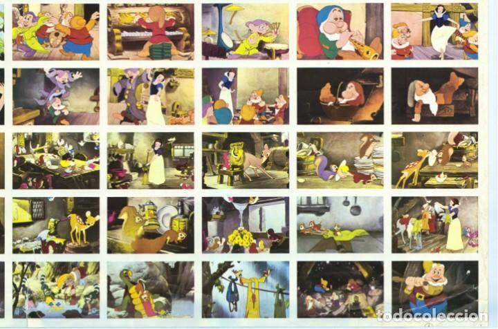 Cine: BLANCANIEVES Y LOS 7 ENANITOS - WALT DISNEY - PLANCHA CARTEL 210 CROMOS / FHER - ÚNICO EN TC - Foto 9 - 224346553