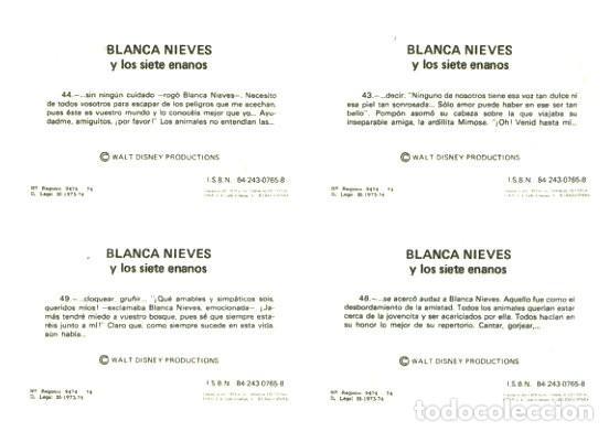Cine: BLANCANIEVES Y LOS 7 ENANITOS - WALT DISNEY - PLANCHA CARTEL 210 CROMOS / FHER - ÚNICO EN TC - Foto 11 - 224346553