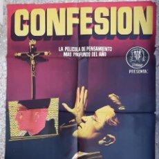 Cine: CARTEL CINE CONFESION JANO LITOGRAFIA ORIGINAL CC1. Lote 224352326