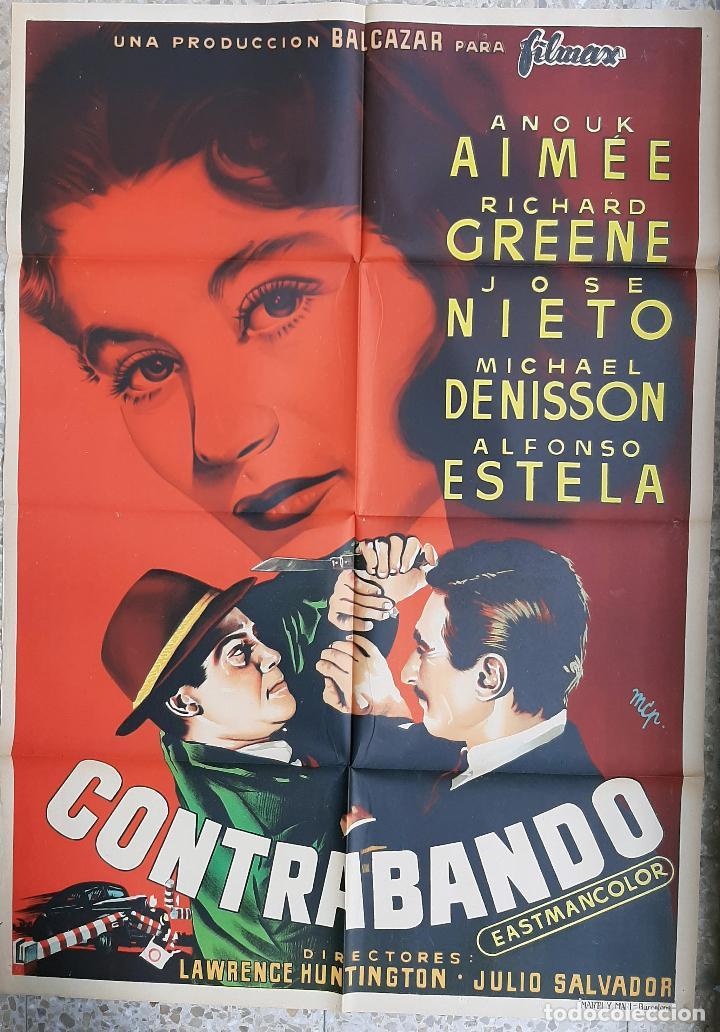 CARTEL CINE CONTRABANDO RICHARD GREENE ANOUX AIMEE MCP LITOGRAFIA ORIGINAL CC1 (Cine - Posters y Carteles - Acción)