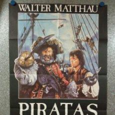 Cine: PIRATAS WALTER MATTHAU, CRIS CAMPION, ROMAN POLANSKI. AÑO 1986. POSTER ORIGINAL. Lote 224371856