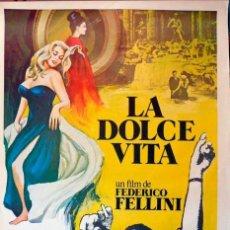 Cine: LA DOLCE VITA. POSTER ORIGINAL. (FEDERICO FELLINI, 1960). Lote 224512615