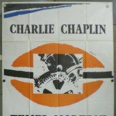 Cine: 2UZ25D TIEMPOS MODERNOS CHARLES CHAPLIN PAULETTE GODDARD POSTER ORIGINAL ITALIANO 140X200. Lote 224650542