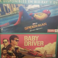 Cine: CARTEL TRIPLE ORIGINAL VIDEOCLUB. SPIDERMAN HOME COMING, BABY DRIVER Y CULT OF CHUCKY. MIDE 98 X 68. Lote 224682556