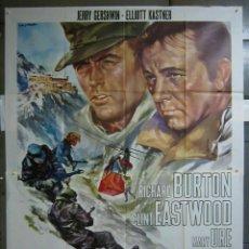 Cinéma: 2ZF60D EL DESAFIO DE LAS AGUILAS CLINT EASTWOOD RICHARD BURTON POSTER ORIGINAL ITALIANO 140X200. Lote 224686385