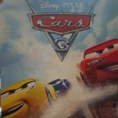 Cine: CARTEL ORIGINAL VIDEOCLUB. CARS 3 DE DISNEY PIXAR. MIDE 68 X 48. Lote 224772890