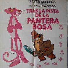 Cinema: CARTEL CINE TRAS LA PISTA DE LA PANTERA ROSA PETER SELLERS DAVID NIVEN ILUSTRA UAC 1982 A 162. Lote 224780972
