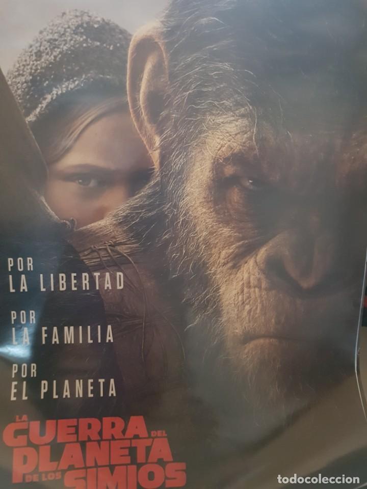 CARTEL ORIGINAL VIDEOCLUB. LA GUERRA DEL PLANETA DE LOS SIMIOS. MIDE 68 X 48 (Cine - Posters y Carteles - Ciencia Ficción)