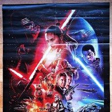 Cinéma: STAR WARS. EL DESPERTAR DE LA FUERZA.POSTER DE 78X52 CM. DOBLADO. LUCASFILM 2015.. Lote 224808628