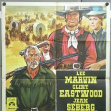 Cine: UA40D LA LEYENDA DE LA CIUDAD SIN NOMBRE CLINT EASTWOOD LEE MARVIN POSTER ORIGINAL ITALIANO 100X140. Lote 224809128